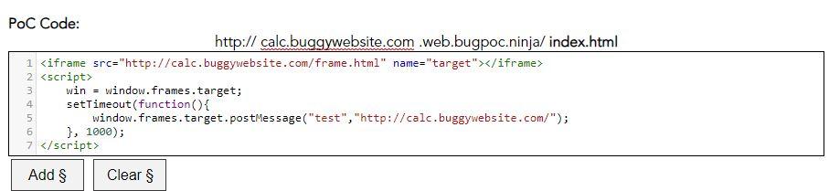 PoC creation on BugPoc