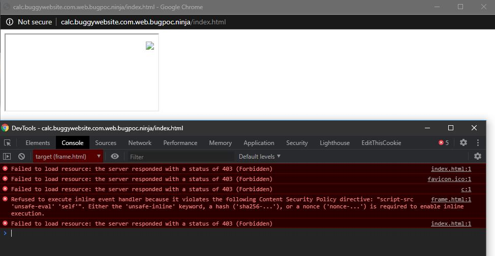 Content-Security-Policy blocking payload